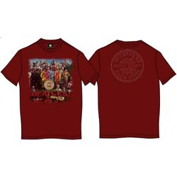 The Beatles Men's Premium Tee: Sgt Pepper with Back Printing