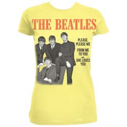 The Beatles Ladies Fashion Tee: Please, Please Me