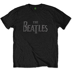 The Beatles Unisex Tee: Drop T Logo (Diamante)
