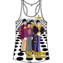 The Beatles Ladies Vest Tee: Sea of Holes