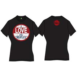 The Beatles Ladies Premium Tee: I Love The Beatles (Back Print)