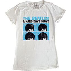 The Beatles Ladies Premium Tee: Hard Days Night Pastel
