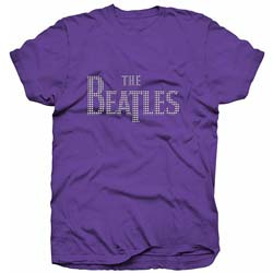 The Beatles Ladies Premium Tee: Drop T Logo with Rhinestone Application