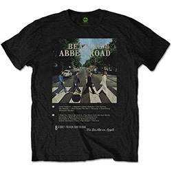 The Beatles Unisex Tee: Abbey Road 8 Track