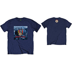 The Beatles Men's Tee: Sgt Pepper Blue with Back Printing
