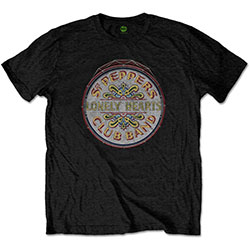 The Beatles Men's Tee: Original Pepper Drum