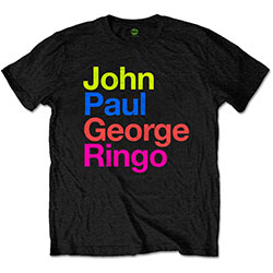 The Beatles Men's Tee: JPG&R Pepper Suit Colours
