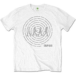 The Beatles Unisex Tee: Abbey Road Songs Swirl