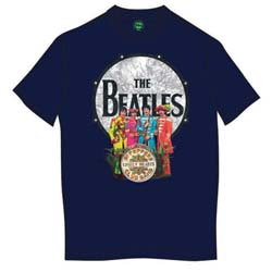 The Beatles Men's Premium Tee: Sgt Pepper & Drum