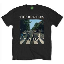 The Beatles Unisex Tee: Abbey Road with logo