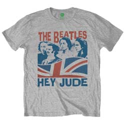 The Beatles Men's Premium Tee: Windswept/Hey Jude