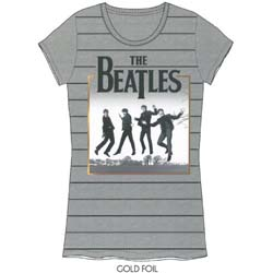 The Beatles Ladies Premium Tee: Leaping with Foiled Application