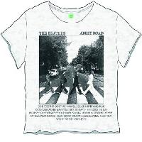 The Beatles Ladies Fashion Tee: Abbey Road Songs with Burn Out Finishing