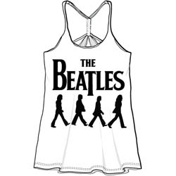 The Beatles Ladies Baby Doll Tee: Abbey Road Walking