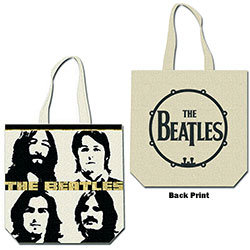 The Beatles Cotton Tote Bag: Four Heads (with zip top)