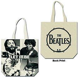 The Beatles Cotton Tote Bag: Let it be (with zip top)