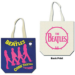 The Beatles Cotton Tote Bag: Come Together (with zip top)