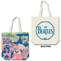 The Beatles Cotton Tote Bag: Get Back (with zip top)