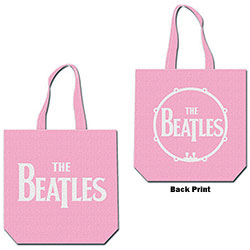 The Beatles Cotton Tote Bag: Drop T Logo (with zip top)