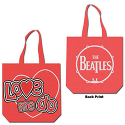 The Beatles Cotton Tote Bag: Love me do (with zip top)
