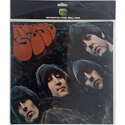 The Beatles Metal Wall Sign: Rubber Soul