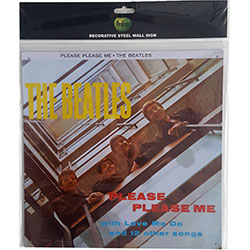 The Beatles Metal Wall Sign: Please, Please Me
