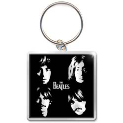 The Beatles Standard Keychain: Illustrated Faces