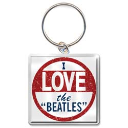 The Beatles Standard Keychain: I Love the Beatles