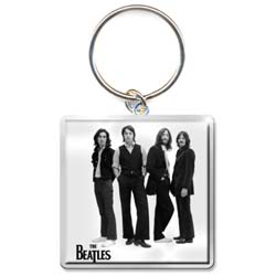 The Beatles Standard Keychain: White Iconic Image
