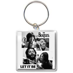 The Beatles Standard Keychain: Let it Be Faces