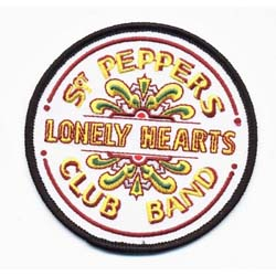 The Beatles Standard Patch: Sgt Pepper Drum (Iron On)