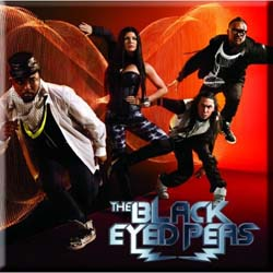 The Black Eye Peas Fridge Magnet: Band Photo Boom Boom Pow