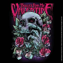 Bullet For My Valentine Single Cork Coaster: Skull Red Eyes