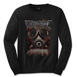 Bullet For My Valentine Unisex Long Sleeved Tee: Temper Temper Gas Mask