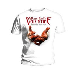 Bullet For My Valentine Unisex Tee: Temper Temper Blood Hands