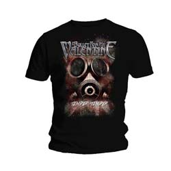 Bullet For My Valentine Unisex Tee: Temper Temper Gas Mask