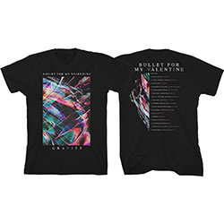 Bullet For My Valentine Unisex Tee: Gravity Euro Tour 2018 (Ex Tour/Back Print)