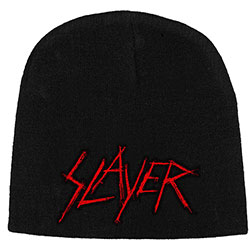 Slayer Men's Beanie Hat: Scratched Logo