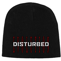 Disturbed Unisex Beanie Hat: Red Evolution