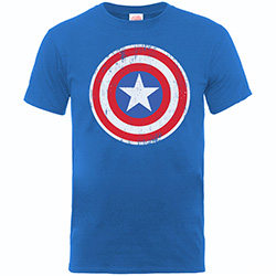 Marvel Comics Kids Boy's Fit Tee: Captain America Distressed Shield