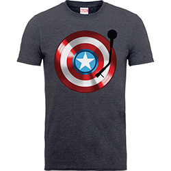 Marvel Comics Kids Boy's Fit Tee: Captain America 75th Captains Record