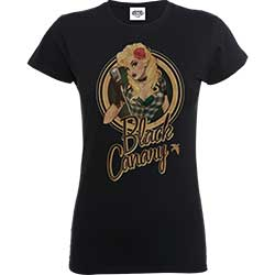 DC Comics Ladies Tee: Justice League Bombshell Canary Badge