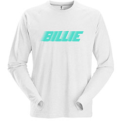 Billie Eilish Unisex Long Sleeved Tee: Racer Logo
