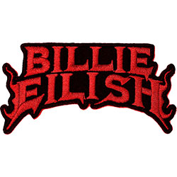 Billie Eilish Standard Patch: Flame Red