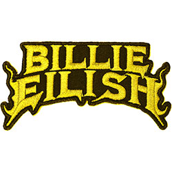 Billie Eilish Standard Patch: Flame Yellow