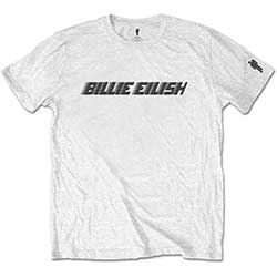Billie Eilish Kids Tee: Black Racer Logo (Sleeve Print)