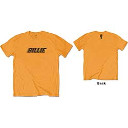 Billie Eilish Kids Tee: Racer Logo & Blohsh (Back Print)