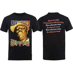 Biggie Smalls Unisex Tee: Life After Death (Back Print)