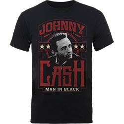 Johnny Cash Men's Tee: Man In Black