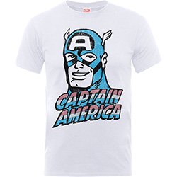 Marvel Comics Kids Boy's Fit Tee: Captain America Distressed Head